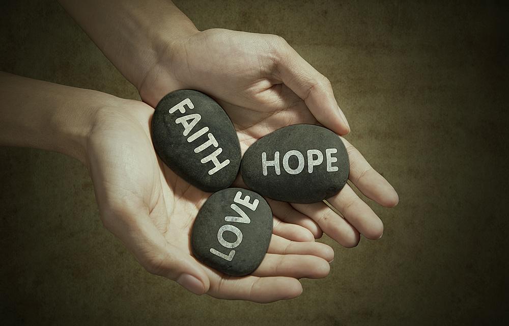 91.5 FM playing Faith, Love, Hope